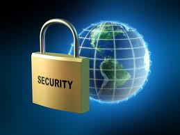 a lock and a globe signifying internet security
